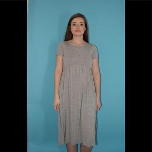 Gray Midi Dress
